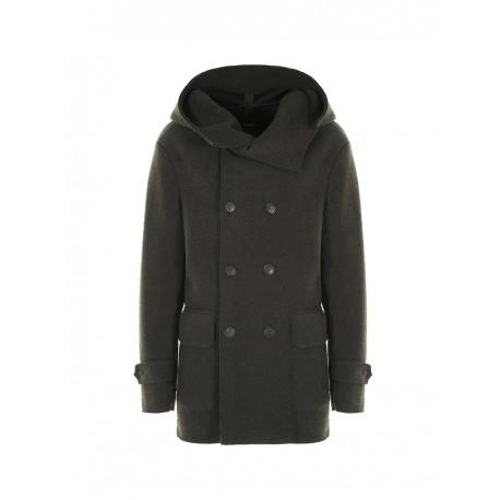 Cappotto doppiopetto con cappuccio - Imperial Fashion  34401c97eacc