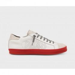 Sneaker bassa E8 John White-Red - P448