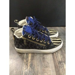 "sneaker maculato righe blu Roll-W ""CHANGE"""