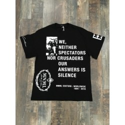 "t-shirt lunga stampata U1347 ""MINIMAL COUTURE"""