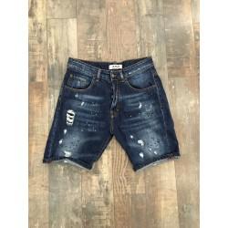 """bermuda jeans schizzi pittura STEVEN L405 """"I'M BRIAN"""""""
