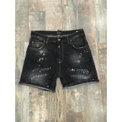 """bermuda jeans schizzi pittura KEVIN BK L403 """"I'M BRIAN"""""""