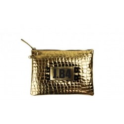 POCHETTE SMALL CROCO ORO
