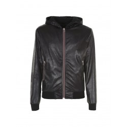 Bomber ecopelle con cappuccio - Imperial Fashion