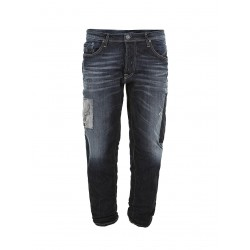 Jeans baggy con toppe - Imperial Fashion