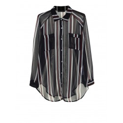 Camicia velata a righe - Please Fashion