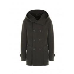 Cappotto doppiopetto con cappuccio - Imperial Fashion