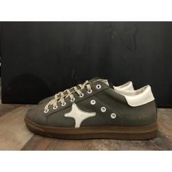 Sneaker bassa leather antracite 954 - Ama Brand