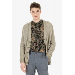 Cardigan A Coste In Cotone - Imperial Fashion