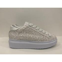Sneaker Eagle Glitter bianco - Ama Brand