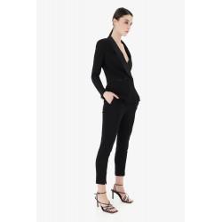 Pantalone Slim Alla Caviglia Con Spacchetti - Imperial Fashion