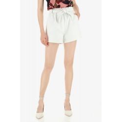 Shorts Con Vita Arricciata E Fusciacca - Imperial Fashion
