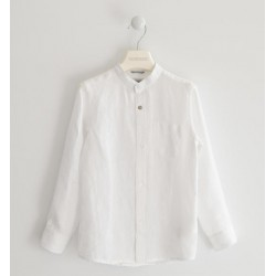 Camicia Lino  Collo Alla Coreana- Sarabanda