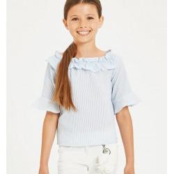Camicia Righe Arricciata - Sarabanda