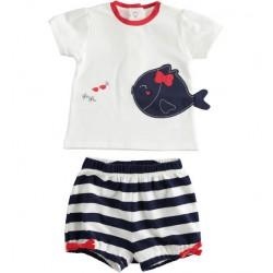 Completo T-shirt + Short Neonata - Minibanda