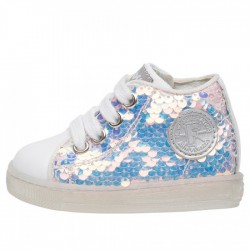 SCARPE MAGIC VIT/PAILLETTES CANG BIANCO