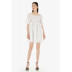 Mini abito In Pizzo Sangallo - Imperial Fashion
