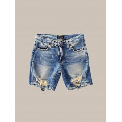 Short Denim Con Strappi - I'M Brian