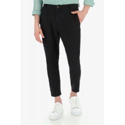 Pantalone in Misto Lino con Pinces - Imperial Fashion
