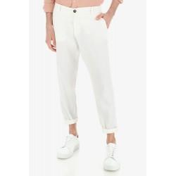 Pantalone Casual In Misto Lino - Imperial Fashion