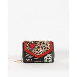 Mini Bag Hearts Con Patch - Gio Cellini