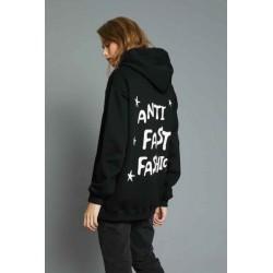 Felpa lunga anti fast fashion nera - J.b4