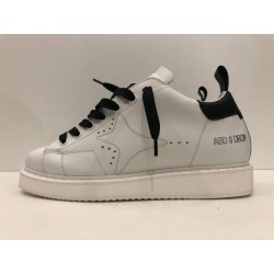 Sneakers Drop In pelle con Tab Nero - Ama Brand