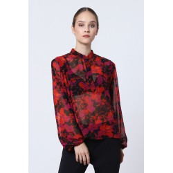 Blusa Floreale con colletto all' americana - Imperial Fashion