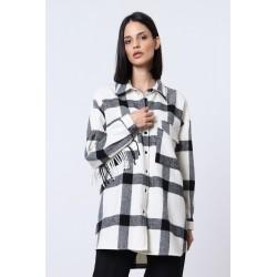 Camicia Check con taschini e frange - Imperial Fashion
