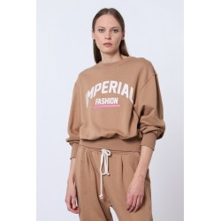 Felpa Cropped con scritta logo - Imperial Fashion