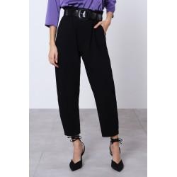 Pantaloni a vita alta con cintura - Imperial Fashion