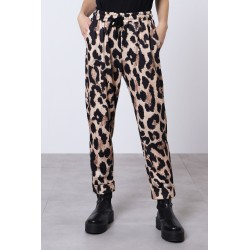 Pantaloni animalier con coulisse - Imperial Fashion