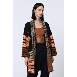 Cardigan con motivi geometrici - Imperial Fashion