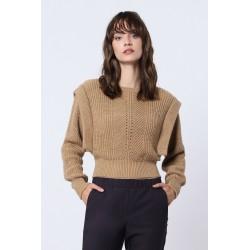 Maglione traforato con spalle dettaglio - Imperial Fashion