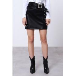 Gonna similpelle e cintura gioiello - Imperial Fashion