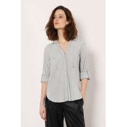 Camicia Asimmetrica con taschini Dettaglio - Imperial fashion