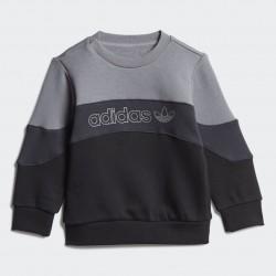 Completo Tuta Crew grigio - Adidas Original Kid