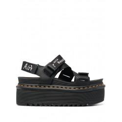 Sandali Platform Kimber Black Hydro Leather - Dr Martens