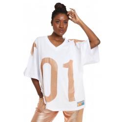 Maxi T-Shirt Logo Strass - Kostumn°1