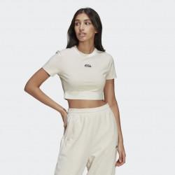 T-Shirt Cropped Crema - Adidas Original