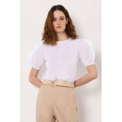 Top con Maniche Corte Dettaglio - Imperial Fashion