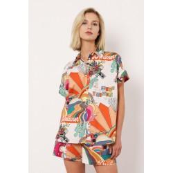 Camicia Multicolor a Maniche Corte - Imperial fashion