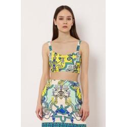 Top Smanicato Corto a Fantasia - Imperial Fashion