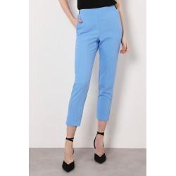 Pantaloni Gessati Cropped Vita Elastica - Imperial Fashion