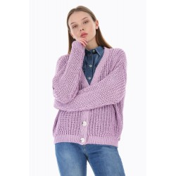 Cardigan Oversize a Maglie Larghe - Please