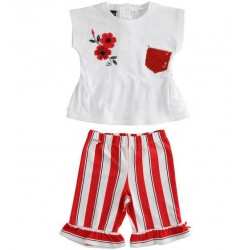 COMPLETO PANT RIGHE + T-SHIRT