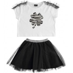 COMPLETO T-SHIRT + GONNA TULLE