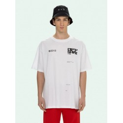 TECH MARKER S/S OVER TEE WHTE / BLACK off - white