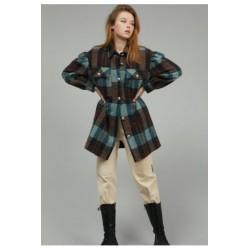 Camicia/Cappotto Quadri Azzurra - J.B4