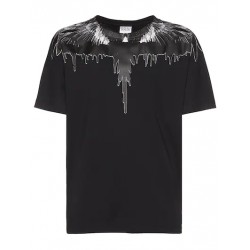 T-SHIRT TAR WINGS REGULAR BLACK/BLACK